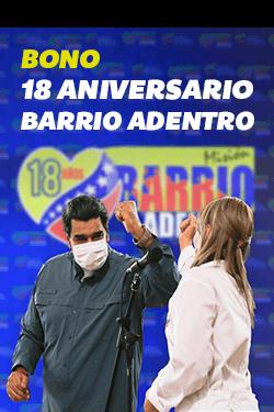 Bono 18 Aniversario Barrio Adentro